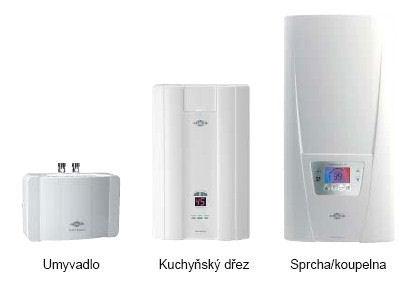 Průtokové ohřívače teplé užitkové vody